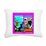 Labrador Work Play Rectangular Canvas Pillow
