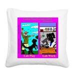 Labrador Work Play Square Canvas Pillow