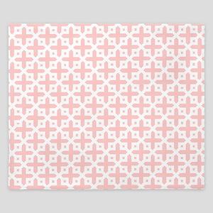 Pale Pink Cross Pattern King Duvet