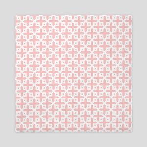 Pale Pink Cross Pattern Queen Duvet