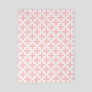 Pale Pink Cross Pattern Twin Duvet