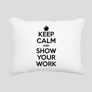 Keep Calm and Show Your Work Rectangular Canvas Pi