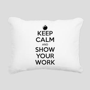 Keep Calm and Show Your Work Rectangular Canvas Pi