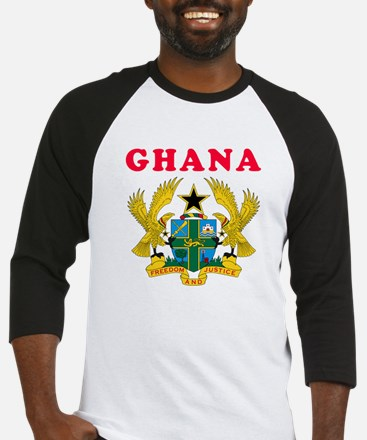 Ghana Coat Of Arms Designs Baseball Jersey