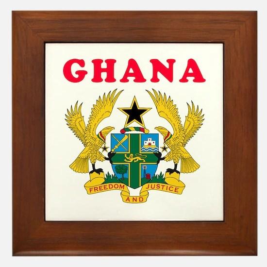 Ghana Coat Of Arms Designs Framed Tile