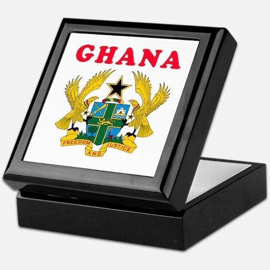 Ghana Coat Of Arms Designs Keepsake Box