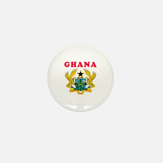 Ghana Coat Of Arms Designs Mini Button