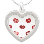 Kiss this! Silver Heart Necklace