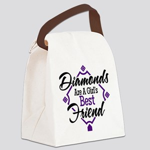 Diamonds P B Canvas Lunch Bag
