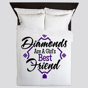 Diamonds P B Queen Duvet