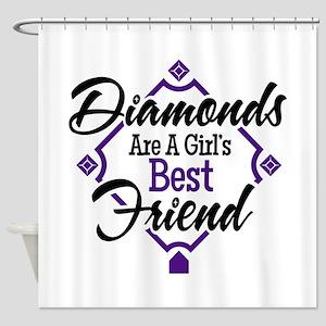 Diamonds P B Shower Curtain