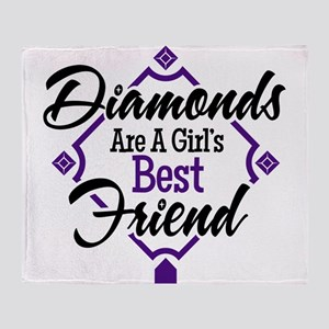 Diamonds P B Throw Blanket