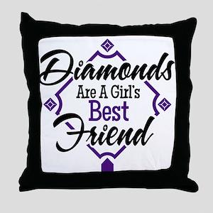 Diamonds P B Throw Pillow
