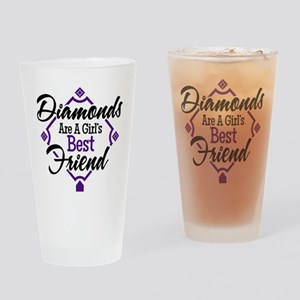 Diamonds P B Drinking Glass