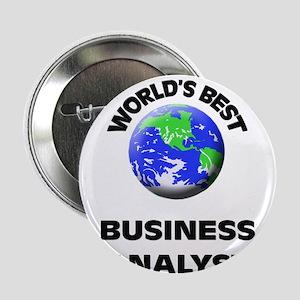 """World's Best Business Analyst 2.25"""" Button"""