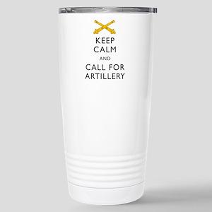 Keep Calm Call for Artillery Travel Mug