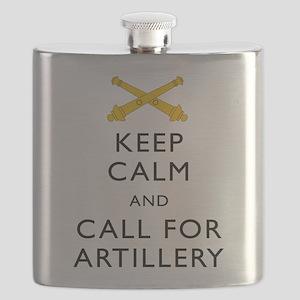 Keep Calm Call for Artillery Flask
