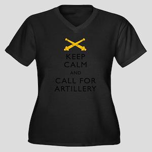 Keep Calm Call for Artillery Plus Size T-Shirt