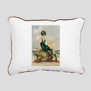 Bathing Beauty Rectangular Canvas Pillow