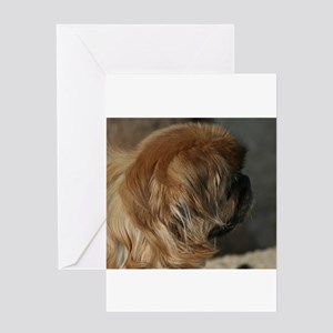pekingese Greeting Cards