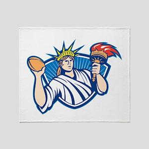 Statue of Liberty Throwing Football Ball Throw Bla