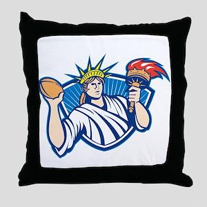 Statue of Liberty Throwing Football Ball Throw Pil