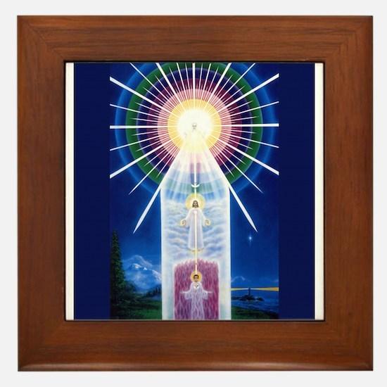 Beloved mighty I AM Presence Framed Tile