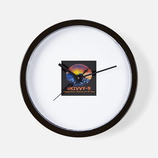 Skivvy 9 Wall Clock