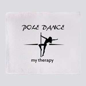 Pole Dancing my therapy Throw Blanket