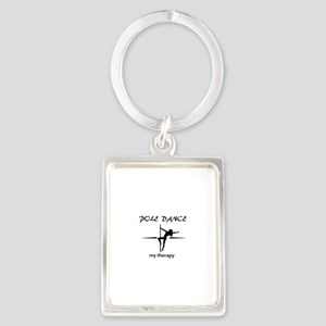 Pole Dancing my therapy Portrait Keychain