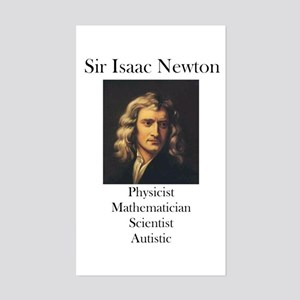 Autistic Isaac Newton Rectangle Sticker