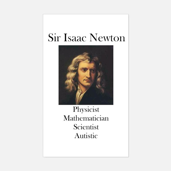 Autistic Isaac Newton Rectangle Bumper Stickers