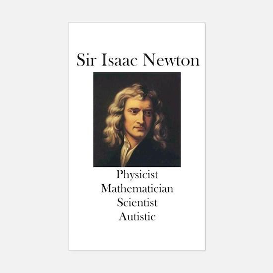 Autistic Isaac Newton Rectangle Decal