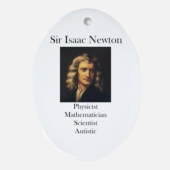 Autistic Isaac Newton  Oval Ornament