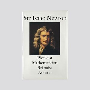 Autistic Isaac Newton Rectangle Magnet