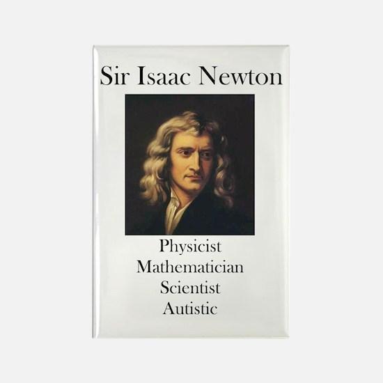Autistic Isaac Newton Rectangle Magnet