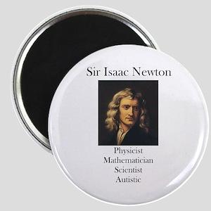 Autistic Isaac Newton Magnet