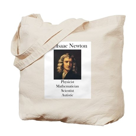 Autistic Isaac Newton Tote Bag