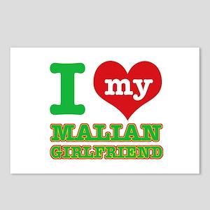 Malian Girlfriend designs Postcards (Package of 8)