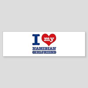 Namibian Girlfriend designs Sticker (Bumper)