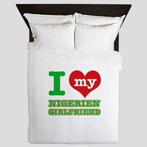 Nigerian Girlfriend designs Queen Duvet