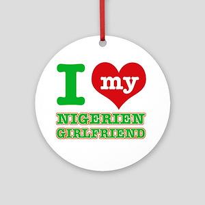 Nigerian Girlfriend designs Ornament (Round)