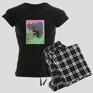 Tattoo Fenghuang Women's Dark Pajamas
