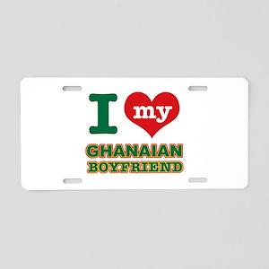 I love my Ethiopian Boyfriend Aluminum License Pla