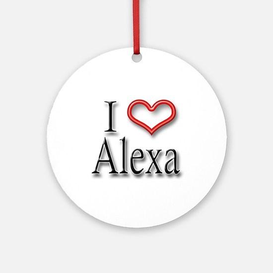 I Heart Alexa Ornament (Round)