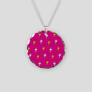 'Lightning' Necklace Circle Charm
