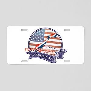 Proud Norwegian American Aluminum License Plate