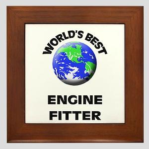 World's Best Engine Fitter Framed Tile