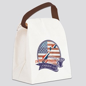 Proud Norwegian American Canvas Lunch Bag