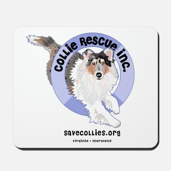Collie Rescue, Inc Mousepad